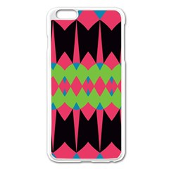 Rhombus and other shapes pattern			Apple iPhone 6 Plus/6S Plus Enamel White Case