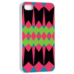 Rhombus and other shapes patternApple iPhone 4/4s Seamless Case (White)