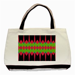 Rhombus and other shapes patternBasic Tote Bag