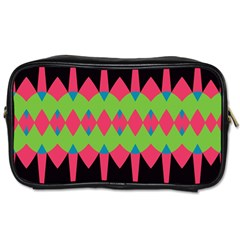 Rhombus and other shapes patternToiletries Bag (One Side)
