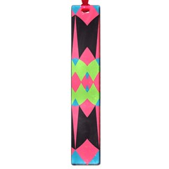 Rhombus and other shapes patternLarge Book Mark