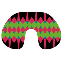 Rhombus and other shapes pattern Travel Neck Pillow