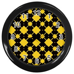 Connected rhombus pattern			Wall Clock (Black)