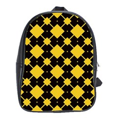 Connected rhombus patternSchool Bag (Large)