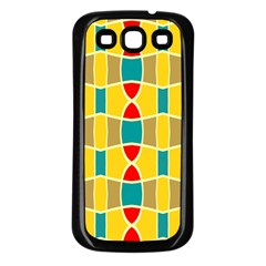 Colorful chains pattern			Samsung Galaxy S3 Back Case (Black)