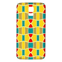 Colorful chains patternSamsung Galaxy S5 Back Case (White)