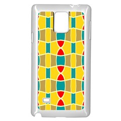 Colorful chains patternSamsung Galaxy Note 4 Case (White)