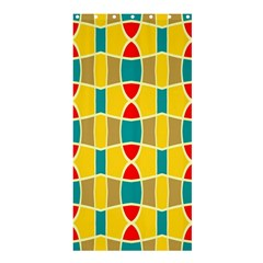 Colorful chains pattern	Shower Curtain 36  x 72