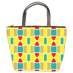 Colorful chains pattern Bucket Bag