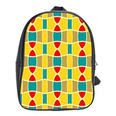 Colorful chains patternSchool Bag (Large)