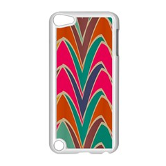 Bended shapes in retro colorsApple iPod Touch 5 Case (White)