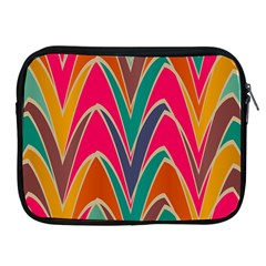 Bended shapes in retro colors			Apple iPad 2/3/4 Zipper Case