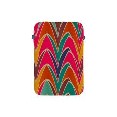 Bended shapes in retro colors			Apple iPad Mini Protective Soft Case