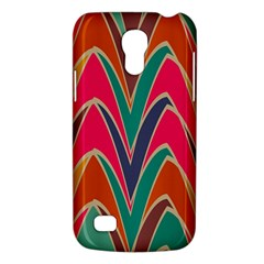 Bended shapes in retro colorsSamsung Galaxy S4 Mini (GT-I9190) Hardshell Case