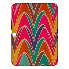 Bended shapes in retro colorsSamsung Galaxy Tab 3 (10.1 ) P5200 Hardshell Case