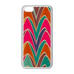 Bended shapes in retro colorsApple iPhone 5C Seamless Case (White)