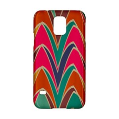 Bended shapes in retro colors			Samsung Galaxy S5 Hardshell Case