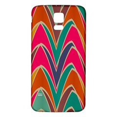 Bended shapes in retro colors			Samsung Galaxy S5 Back Case (White)