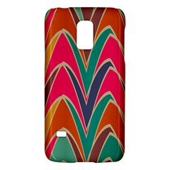 Bended Shapes In Retro Colors			samsung Galaxy S5 Mini Hardshell Case