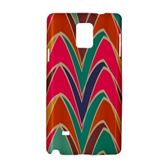 Bended shapes in retro colorsSamsung Galaxy Note 4 Hardshell Case