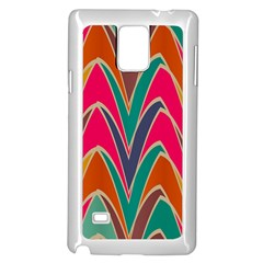 Bended shapes in retro colorsSamsung Galaxy Note 4 Case (White)