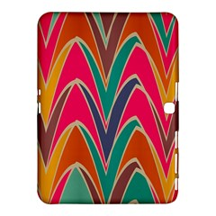 Bended shapes in retro colors			Samsung Galaxy Tab 4 (10.1 ) Hardshell Case