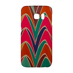 Bended shapes in retro colors			Samsung Galaxy S6 Edge Hardshell Case
