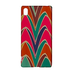 Bended shapes in retro colors			Sony Xperia Z3+ Hardshell Case