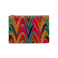 Bended shapes in retro colors Cosmetic Bag