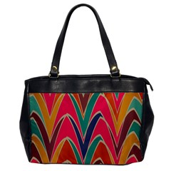Bended shapes in retro colors			Oversize Office Handbag