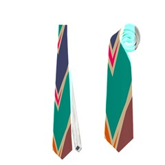 Bended Shapes In Retro Colors Necktie