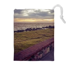 Playa Verde Coast In Montevideo Uruguay Drawstring Pouches (Extra Large)
