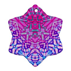 Ethnic Tribal Pattern G327 Snowflake Ornament (2-Side)