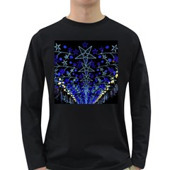 CHRISTMAS STARS Long Sleeve Dark T-Shirts