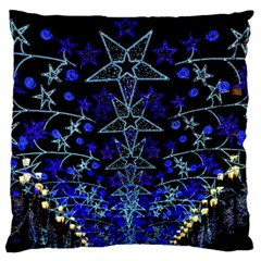 CHRISTMAS STARS Standard Flano Cushion Cases (One Side)