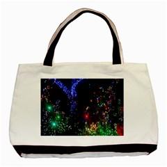 CHRISTMAS LIGHTS 2 Basic Tote Bag (Two Sides)