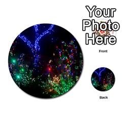 Christmas Lights 2 Multi Purpose Cards (round)
