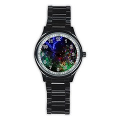 CHRISTMAS LIGHTS 2 Stainless Steel Round Watches