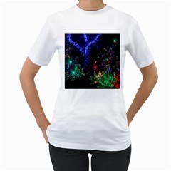 CHRISTMAS LIGHTS 2 Women s T-Shirt (White)