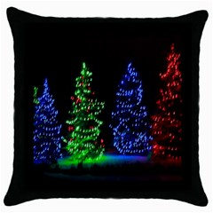 Christmas Lights 1 Throw Pillow Cases (black)