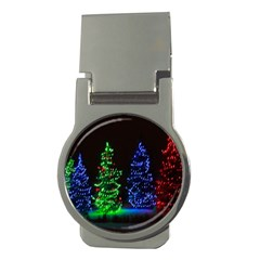 CHRISTMAS LIGHTS 1 Money Clips (Round)