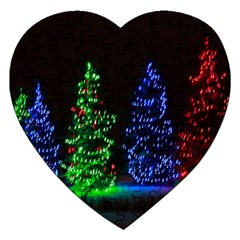 CHRISTMAS LIGHTS 1 Jigsaw Puzzle (Heart)