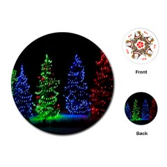 CHRISTMAS LIGHTS 1 Playing Cards (Round)