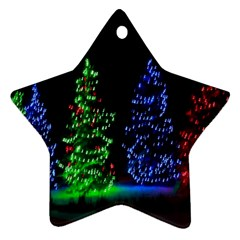 CHRISTMAS LIGHTS 1 Star Ornament (Two Sides)