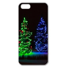 CHRISTMAS LIGHTS 1 Apple Seamless iPhone 5 Case (Clear)