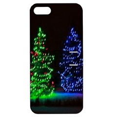 CHRISTMAS LIGHTS 1 Apple iPhone 5 Hardshell Case with Stand