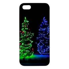 CHRISTMAS LIGHTS 1 Apple iPhone 5 Premium Hardshell Case
