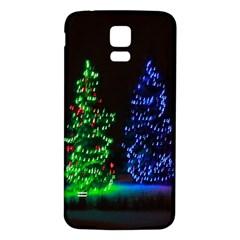 CHRISTMAS LIGHTS 1 Samsung Galaxy S5 Back Case (White)