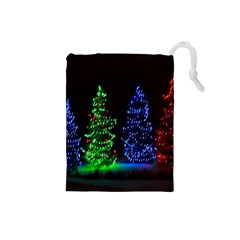Christmas Lights 1 Drawstring Pouches (small)
