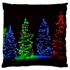 Christmas Lights 1 Large Flano Cushion Cases (two Sides)